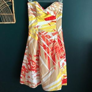 DVF strapless dress